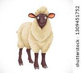 cute dark cartoon  sheep with... | Shutterstock .eps vector #1309451752