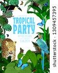 Vector Summer Rainforest Jungle ...