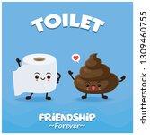 vintage toilet poster design... | Shutterstock .eps vector #1309460755