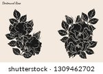 rose vector set by hand drawing.... | Shutterstock .eps vector #1309462702