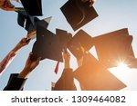 black hat of the graduates... | Shutterstock . vector #1309464082