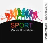 color sport background.... | Shutterstock .eps vector #1309469878