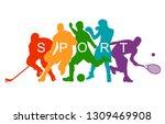 color sport background....   Shutterstock .eps vector #1309469908