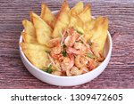 popular thai recipe pad thai...   Shutterstock . vector #1309472605