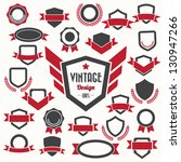 set of retro vintage badges and ... | Shutterstock .eps vector #130947266