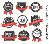 set of retro vintage badges and ... | Shutterstock .eps vector #130947272