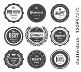 set of  retro vintage badges... | Shutterstock .eps vector #130947275