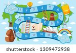 board game template travel... | Shutterstock .eps vector #1309472938