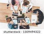 top view of businessman...   Shutterstock . vector #1309494322