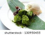 green tea dumpling | Shutterstock . vector #130950455