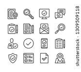 checkmark icons set. pixel... | Shutterstock .eps vector #1309509118