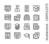online education icons set. e... | Shutterstock .eps vector #1309511575