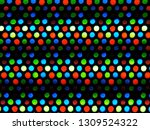 red green blue dots of oled led ... | Shutterstock . vector #1309524322