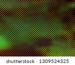red green blue dots of oled led ... | Shutterstock . vector #1309524325
