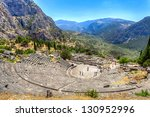ancient theater in delphi ... | Shutterstock . vector #130952996