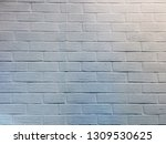 modern brick wall white high... | Shutterstock . vector #1309530625