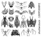 large set of bats and vampires. ... | Shutterstock .eps vector #1309530892