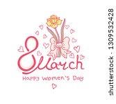 happy women's day vector... | Shutterstock .eps vector #1309532428