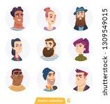 cheerful people avatar... | Shutterstock .eps vector #1309549015