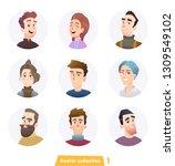 cheerful people avatar...   Shutterstock .eps vector #1309549102