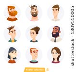 cheerful people avatar... | Shutterstock .eps vector #1309550005