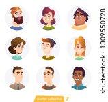 cheerful people avatar... | Shutterstock .eps vector #1309550728