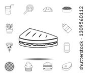sandwich icon. simple thin line ...