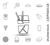 chinese fast food icon. simple...