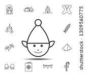 elf icon. simple thin line ...