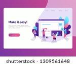 flat illustration style of... | Shutterstock .eps vector #1309561648