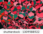abstract red green multicolored ... | Shutterstock .eps vector #1309588522