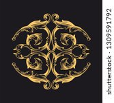 gold ornament baroque style.... | Shutterstock .eps vector #1309591792
