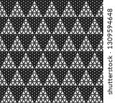 seamless pattern of triangles.... | Shutterstock .eps vector #1309594648