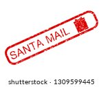 santa claus mail rubber stamp... | Shutterstock . vector #1309599445