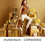 full length portrait of smiling ... | Shutterstock . vector #1309606402