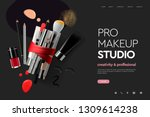 web page design template for... | Shutterstock .eps vector #1309614238