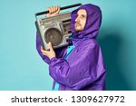 dancer holding a tape recorder... | Shutterstock . vector #1309627972