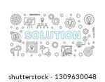 solution horizontal concept... | Shutterstock .eps vector #1309630048