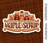 vector logo for maple syrup ... | Shutterstock .eps vector #1309630612