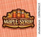 vector logo for maple syrup ... | Shutterstock .eps vector #1309630615