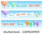 hot air balloon sale banner... | Shutterstock .eps vector #1309634905