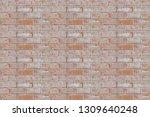 seamless red brick wall white... | Shutterstock . vector #1309640248