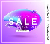 sale banner with liquid design. ... | Shutterstock .eps vector #1309643998