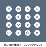 vector user interface button...