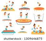 Flat Vector Set Of Children...