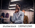 a handsome elegantly dressed... | Shutterstock . vector #1309651585