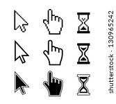 pixel cursors icons  mouse hand ...