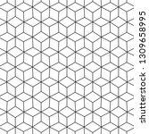 abstract black geometric... | Shutterstock .eps vector #1309658995