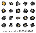 flowers set. collection of... | Shutterstock . vector #1309663942