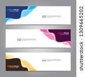 vector abstract web banner... | Shutterstock .eps vector #1309665202